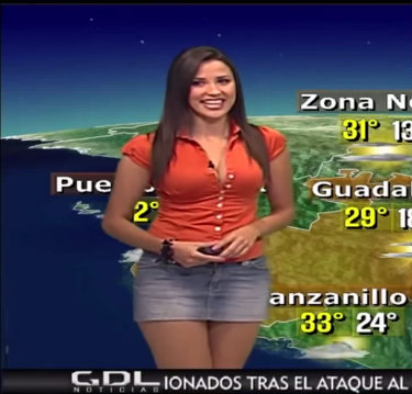 Weather girl erotic